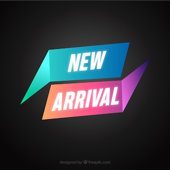 Abstract new arrival background