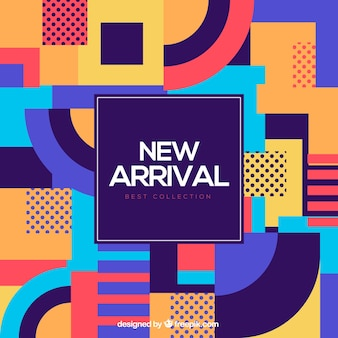 Abstract new arrival composition with flat design