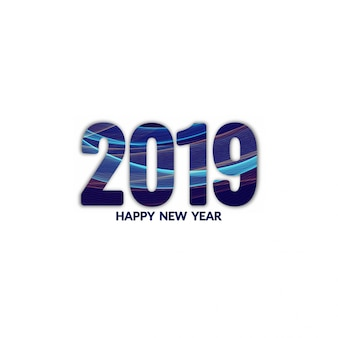 Abstract new year 2019 background design vector