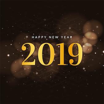 Abstract New Year 2019 celebration stylish background