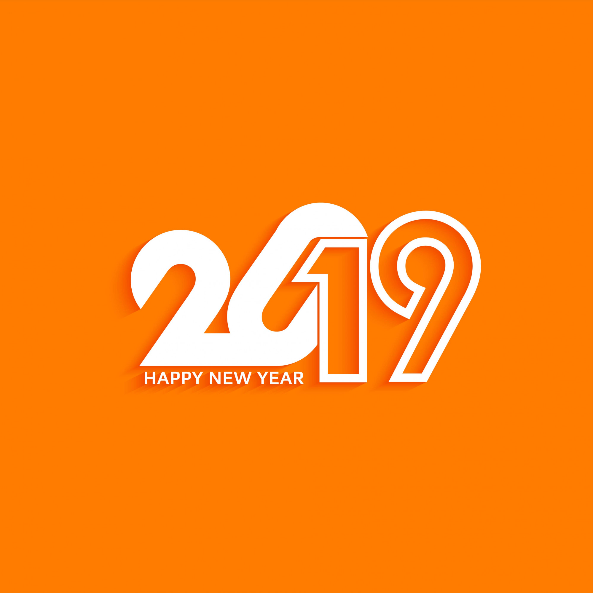 Abstract New Year 2019 stylish text design background
