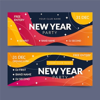 Abstract new year 2020 party banners
