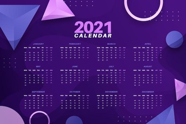Абстрактный календарь новый год 2021