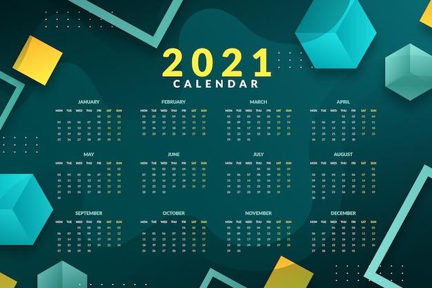 Abstract new year 2021 calendar