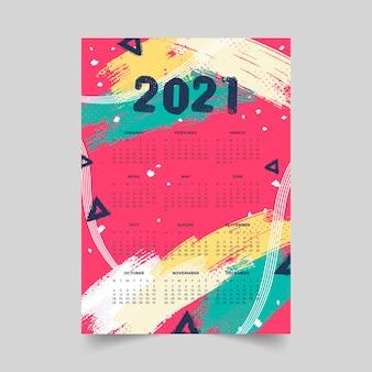 Calendario astratto del nuovo anno 2021