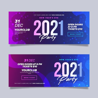 Abstract new year 2021 party banner