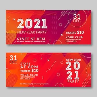 Collezione di banner festa astratta del nuovo anno 2021