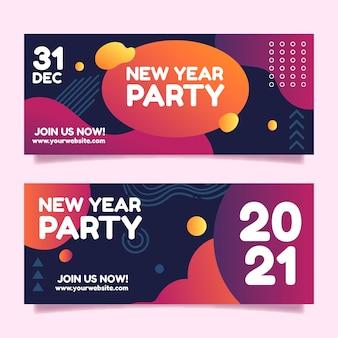 Bandiere astratte del partito di nuovo anno 2021