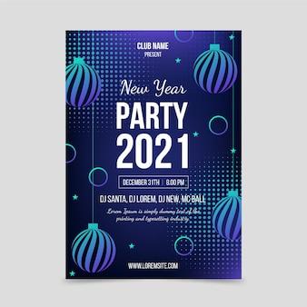 Абстрактный шаблон плаката вечеринки новый год 2021