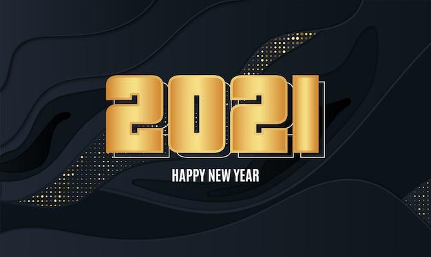 Carta astratta del nuovo anno con effetto dorato
