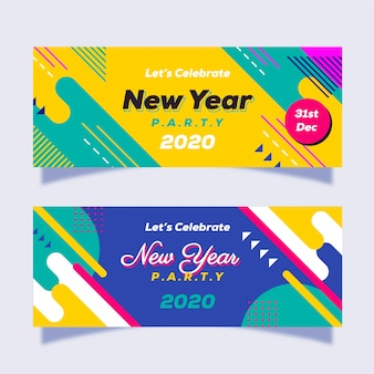 Abstract new year party banners