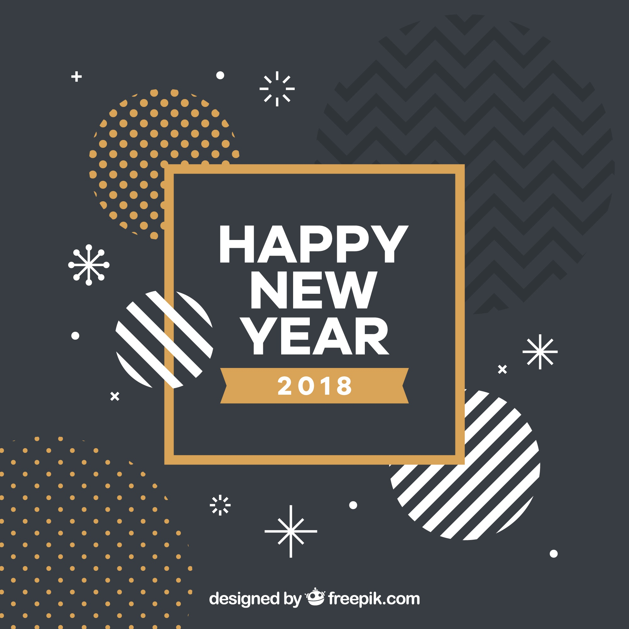 Abstract new year shapes background