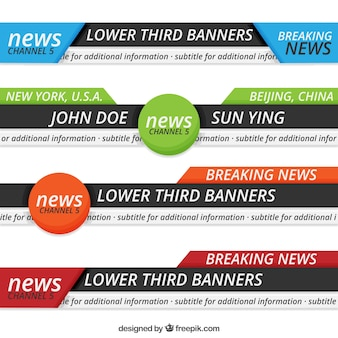 Abstract news lower thirds