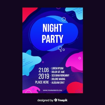 Abstract night party poster template