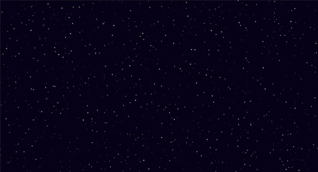 Abstract night sky, white sparkles on a dark blue background.