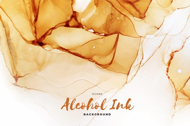 Abstract ochre alcohol ink background