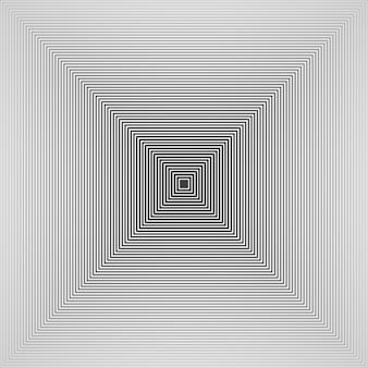 미래의 심플한 디자인 흑백 피라미드 사각형 패턴 배경의 개요