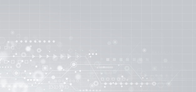 Аннотация геометрической формы и линии на белом