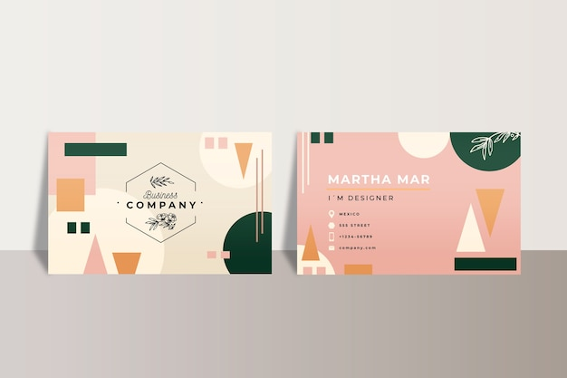 Abstract office business cards