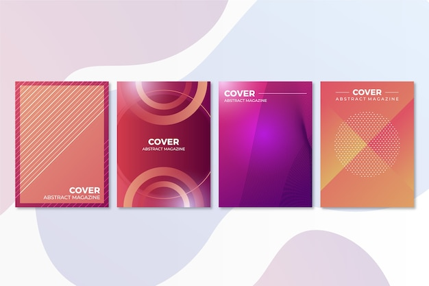 Abstract office company covers template