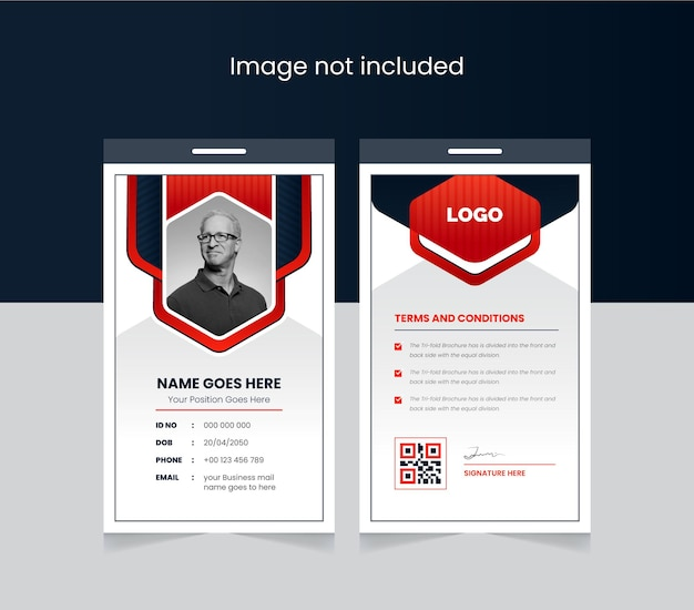 Abstract office id card colorful and creative design front and back id cards for company stuff