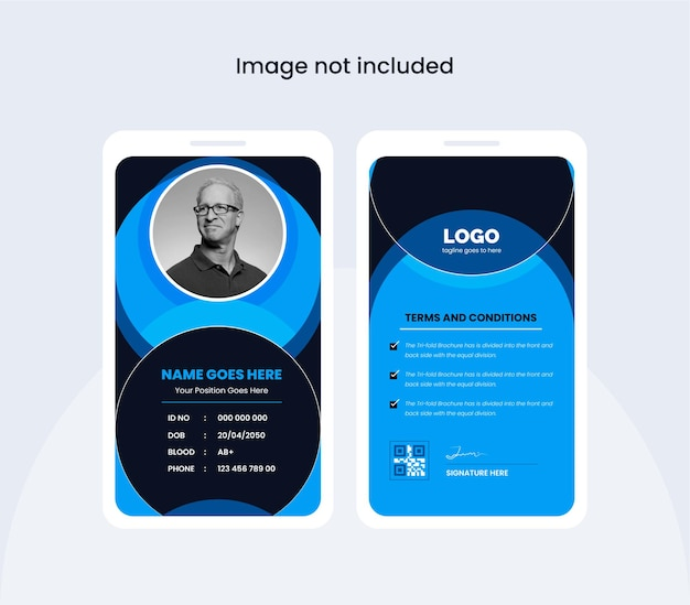 Abstract office id card design template colorful and creative design