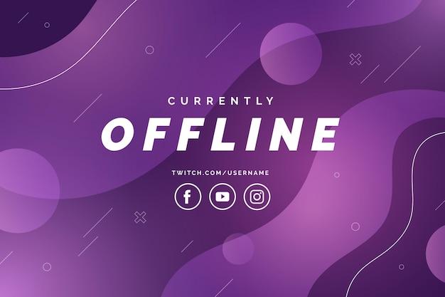 Twitchの抽象的なオフラインバナー