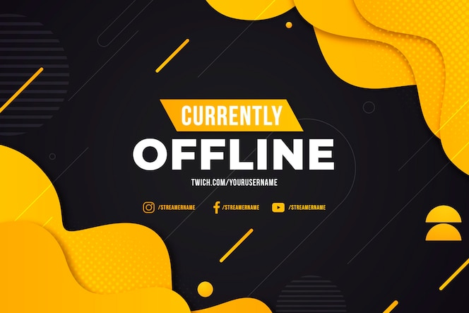 Abstract offline template for twitch banner