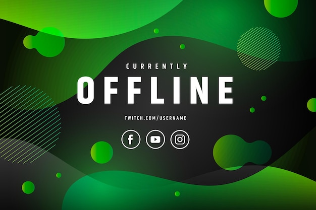 Abstract offline twitch banner concept