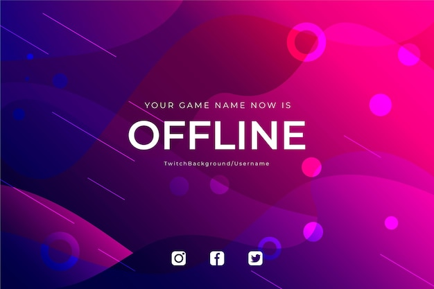 Abstract offline twitch banner design
