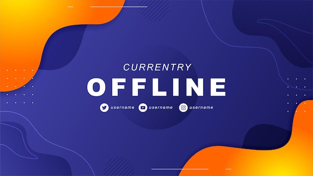 Abstract offline twitch banner in gamer style 1