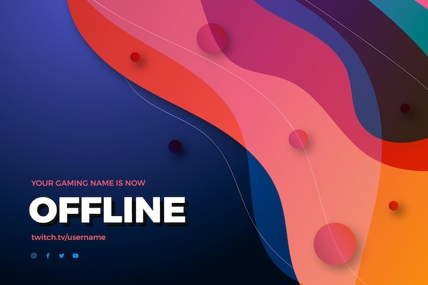 Abstract offline twitch banner theme