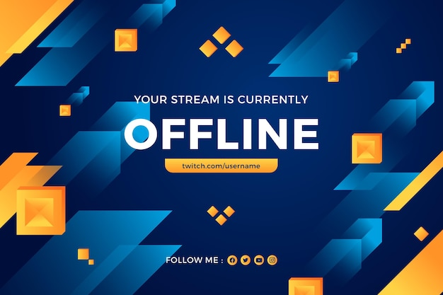Abstract offline twitch banner