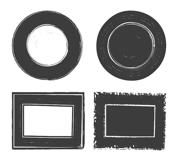 Abstract old grunge frame set