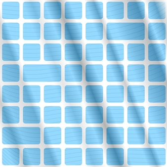 青い長方形と線で抽象的なオプアートの背景