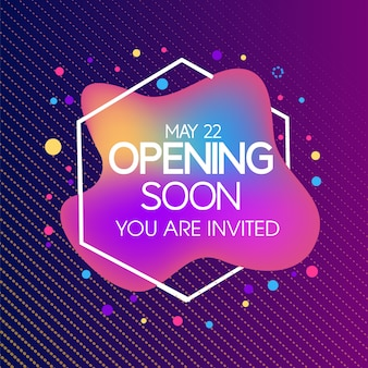 Abstract opening soon vector