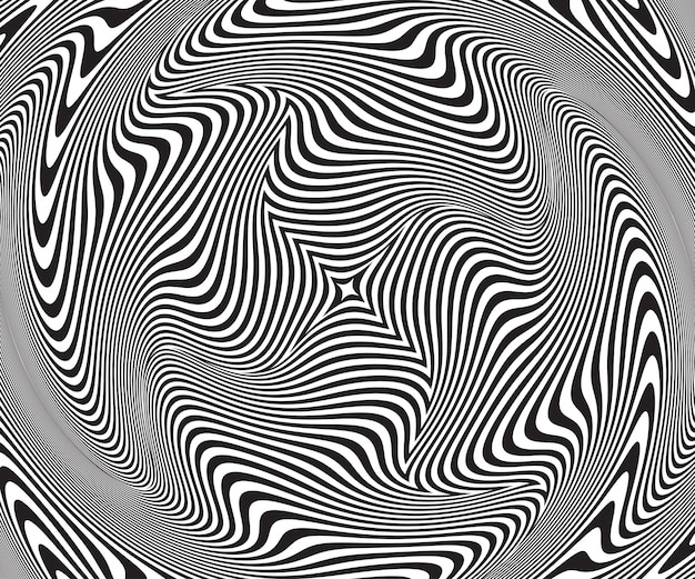 Abstract optical illusion. twisted spiral background
