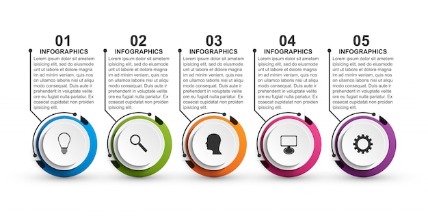 Abstract options infographics template for presentations.