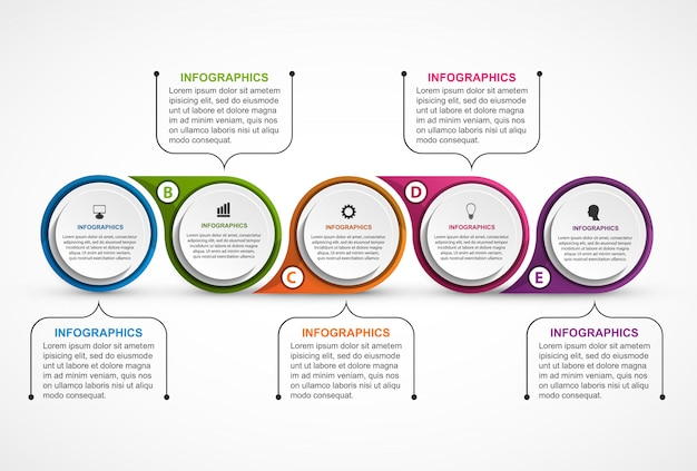 Abstract options infographics template.