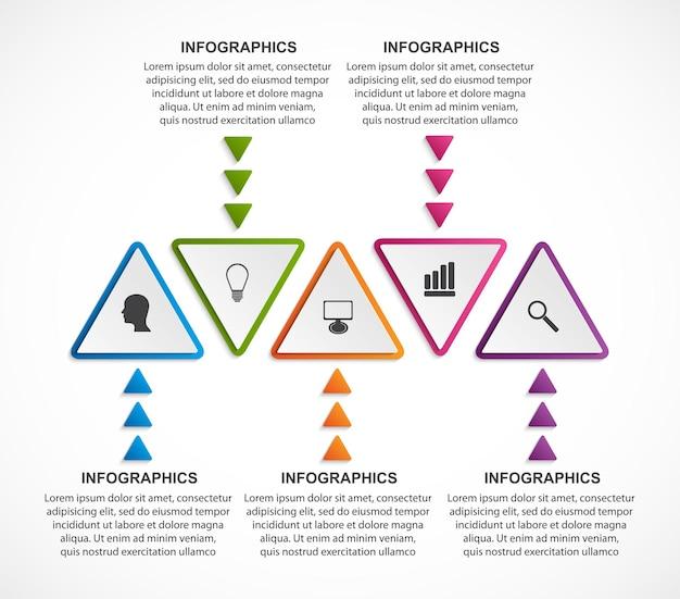 Абстрактный шаблон инфографики вариантов.