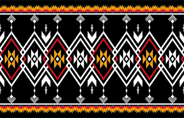 추상 주황색과 빨간색 기하학적 기본 패턴 원활한. 반복 기하학적 배경