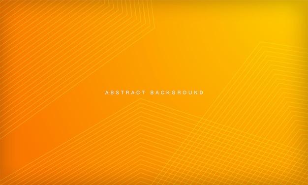 추상 오렌지와 노란색 그라데이션 기하학적 모양 배경 현대 라인 줄무늬 곡선 디자인