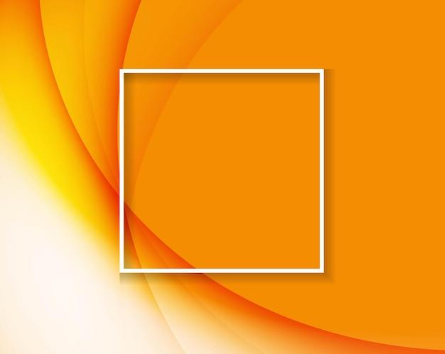 Абстрактный оранжевый backgrond с белой рамкой