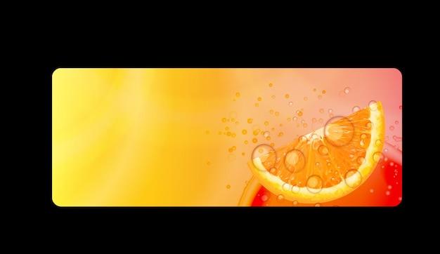 Abstract orange background vector iillustration on black background. eps10