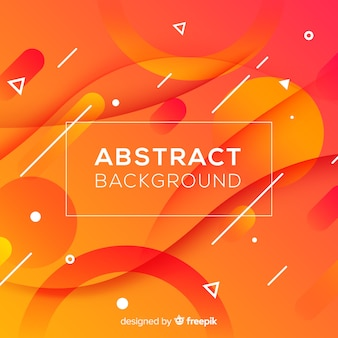 Abstract orange background with wavy shapes