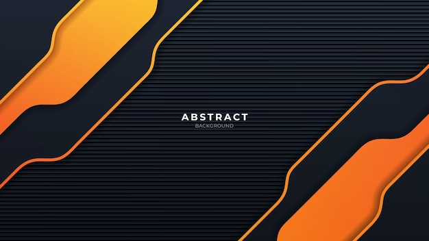 Abstract orange and black background with modern shape
