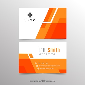 Abstract orange business card template