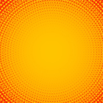 Abstract orange circular halftone background