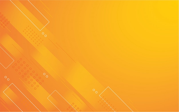 Abstract orange color square background