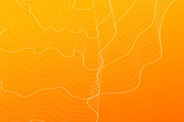 Abstract orange contour lines background